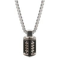 Bailey of Sheffield Men Aero Graphite Necklace outlet 54JKC0AY